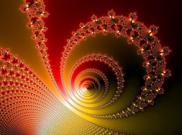 Fractal Digital Art - Red And Yellow Abstract Fractal by Matthias Hauser