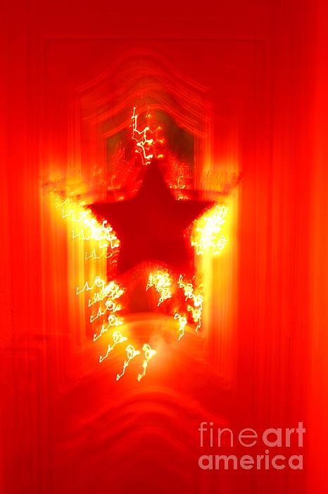 Christmas Photograph - Red Christmas Star by Gaspar Avila