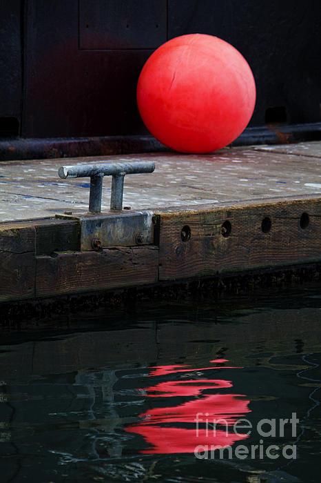 Reflection Photograph - Red Dot by Elena Nosyreva