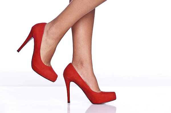 Red Female Shoes Photograph by Juanmonino