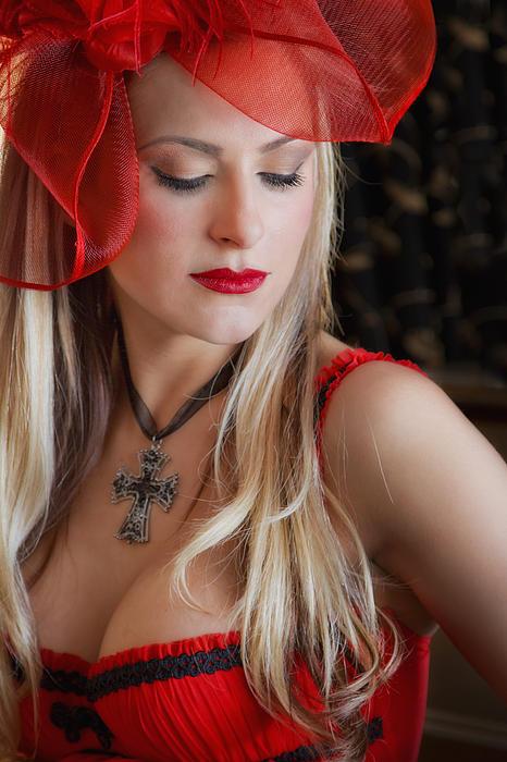 Model Photograph - Red Hot by Evelina Kremsdorf