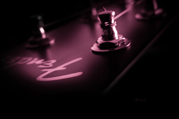 Guitar Photograph - Red Light District  by Bob Orsillo