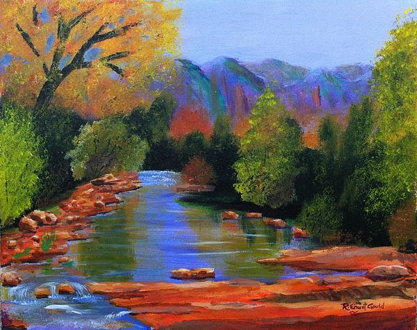 Landscape Painting - Red Rock Crossing by Roy Gould