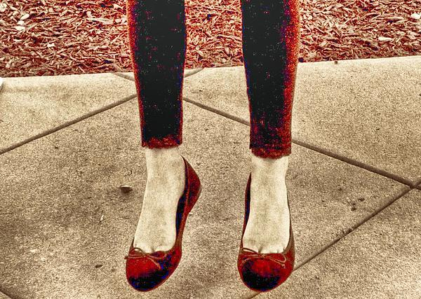Red Shoe Print Photograph - Red Shoes by Kristina Deane