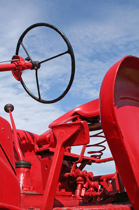 Tractor Photograph - Red Tractor by Heather Allen