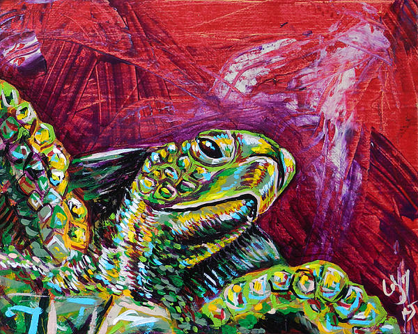 Lovejoy Painting - Red Turtle by Lovejoy Creations