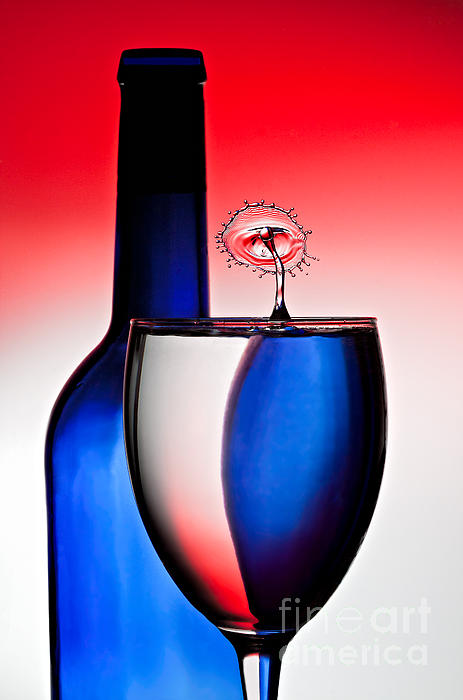 Water Photograph - Red White And Blue Reflections And Refractions by Susan Candelario