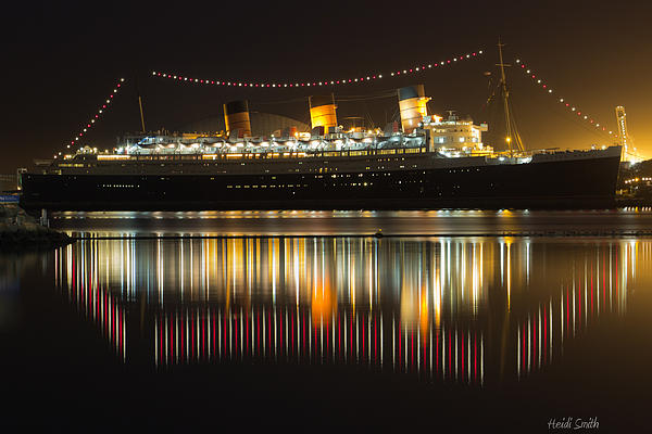 Bay Photograph - Reflections Of Queen Mary by Heidi Smith
