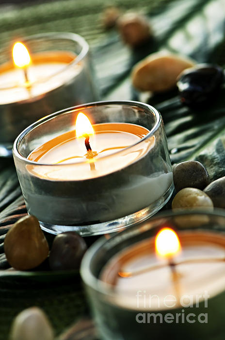 Candles Photograph - Relax by Elena Elisseeva