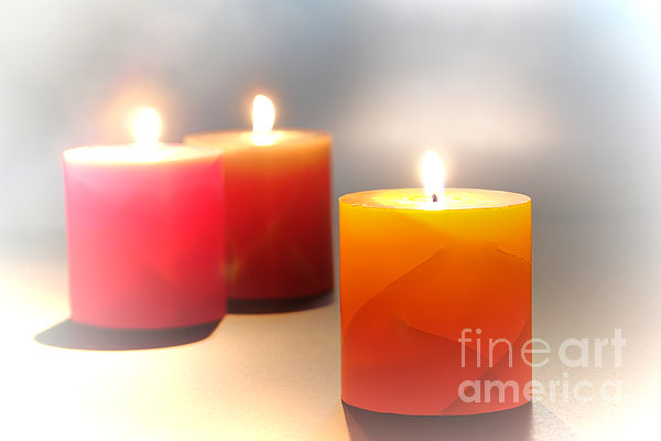 Candles Photograph - Relaxation by Olivier Le Queinec