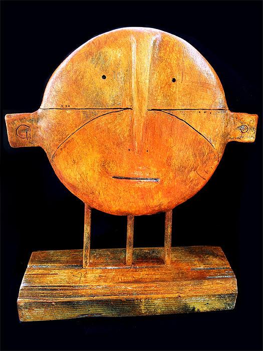 Clay Sculpture - Relics No.7 by Mark M  Mellon