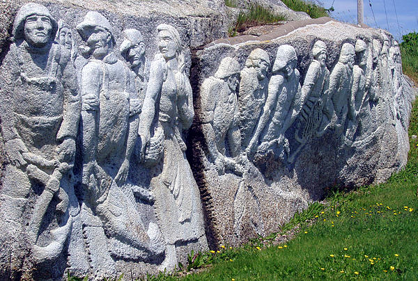 Rock Photograph - Relief Sculpture At Peggys Cove by Brenda Anne Foskett