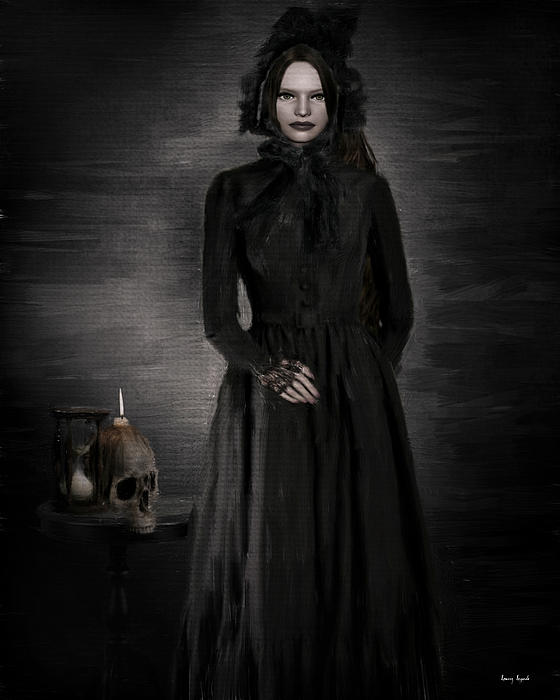 Woman In Black Photograph - Remember Your Mortality by Lourry Legarde