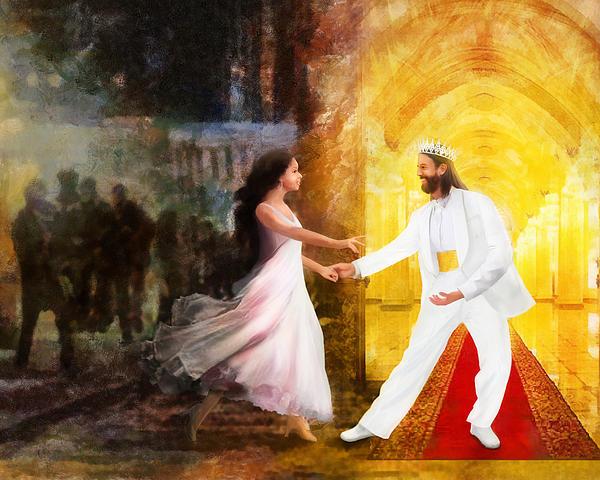 Jesus Digital Art - Rescued From Darkness by Francesa Miller