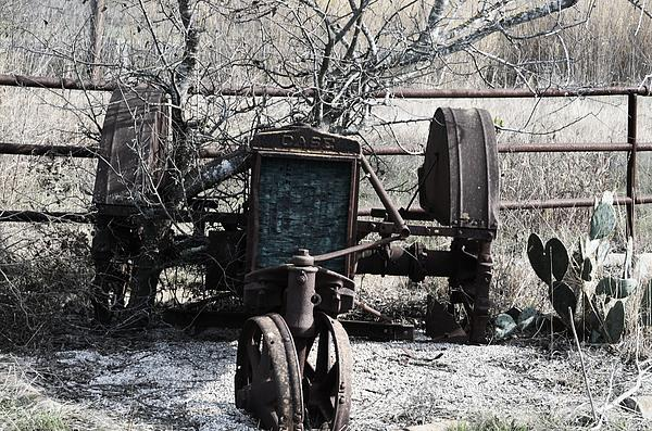 Case Tractor Photograph - Retired by Kelly Kitchens