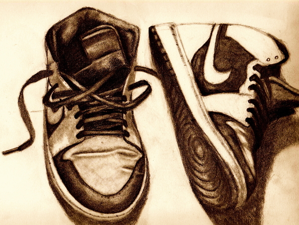 Shoes Drawing - Retro 1 by Dallas Roquemore
