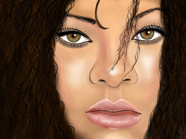 Singer Digital Art - Rihanna by Mathieu Lalonde