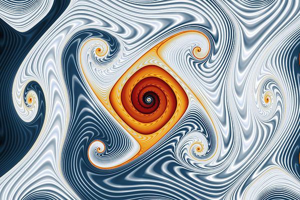 Abstract Digital Art - Ripples And Gnarls by Mark Eggleston