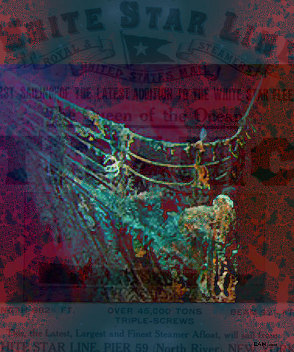 Imagery Digital Art - Rms Titanic Sinks  by Elizabeth McTaggart