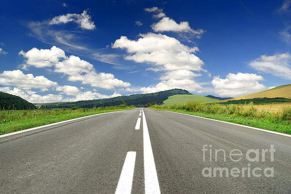 Road Photograph - Road And Beautiful Sky by Boon Mee