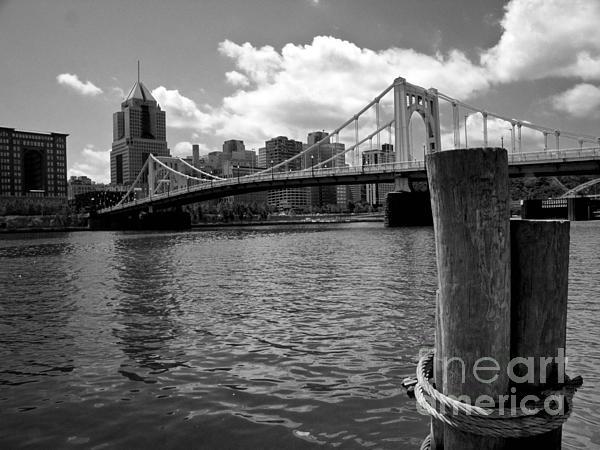 6th Street Bridge Photograph - Roberto Clemente Bridge Pittsburgh by Amy Cicconi