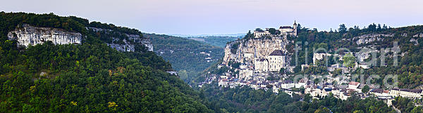 Dawn Photograph - Rocamadour Midi Pyrenees France Panorama by Colin and Linda McKie