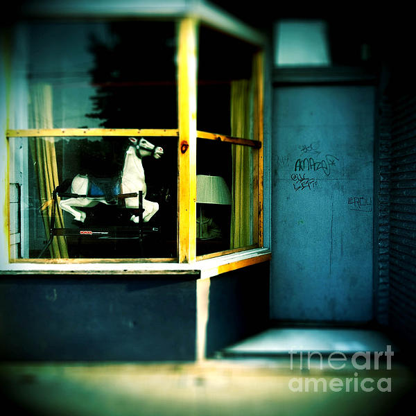 Rocking Horse Photograph - Rocking Horse In Window by Amy Cicconi