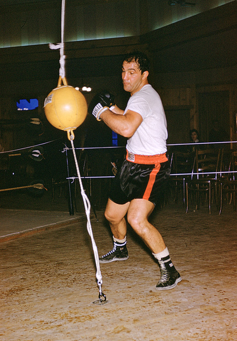Marvin Newman Photograph - Rocky Marciano Training by Retro Images Archive