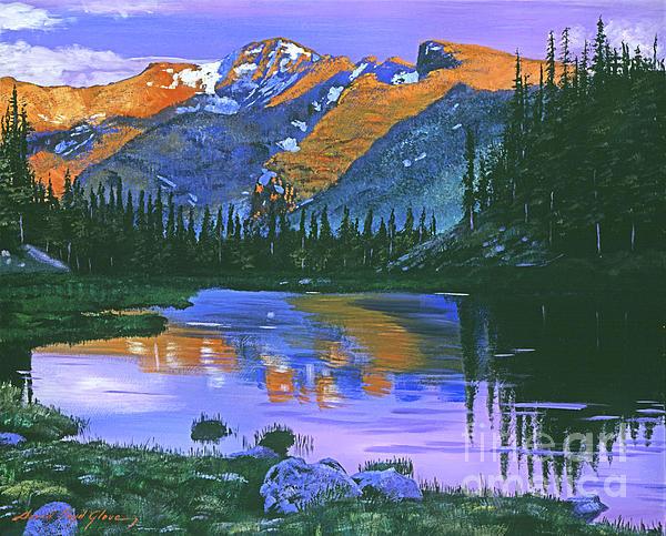 Mountain Painting - Rocky Mountain Lake by David Lloyd Glover