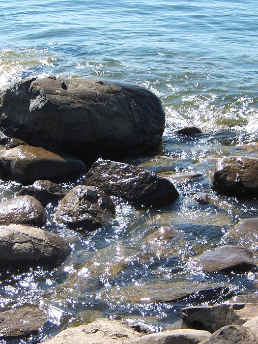 Rocks Photograph - Rocky Waters by Margaret McDermott