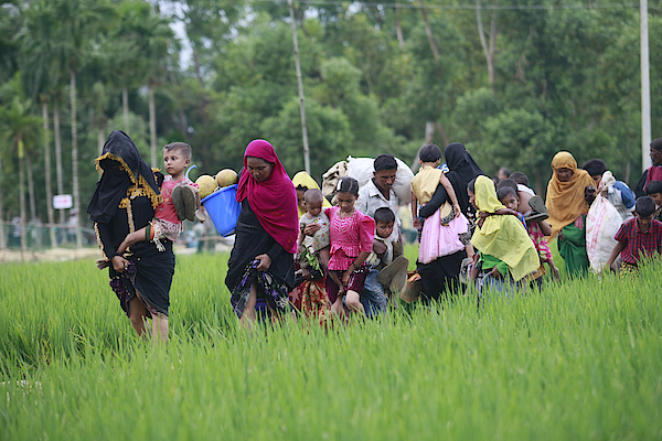 Rohingya Muslims Flee Violence In Myanmar Photograph by Suvra Kanti Das