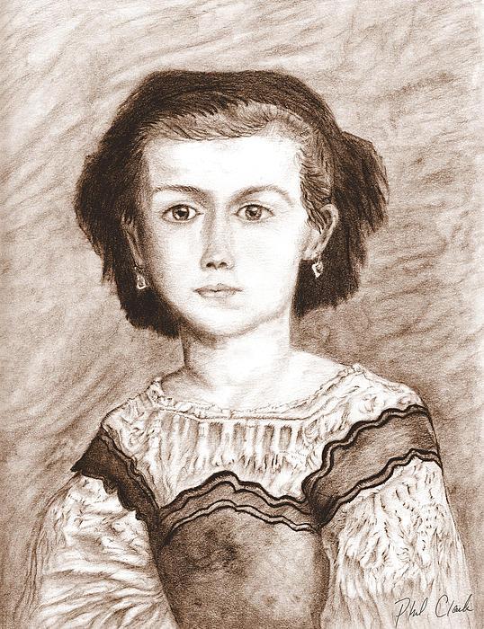 Romaine Lascaux Drawing - Romaine Lascaux by Phil Clark