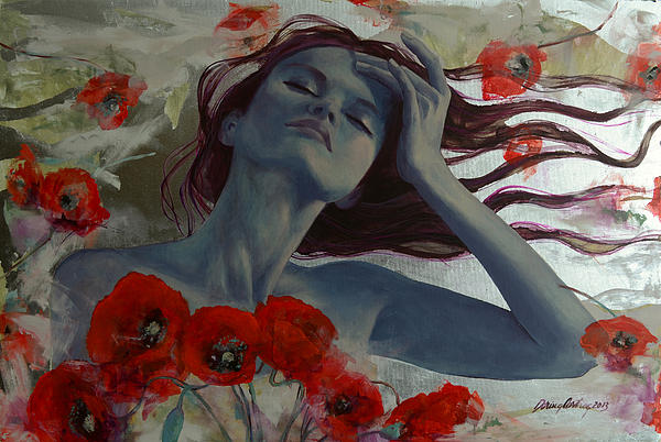 Painting Painting - Romance Echo by Dorina  Costras