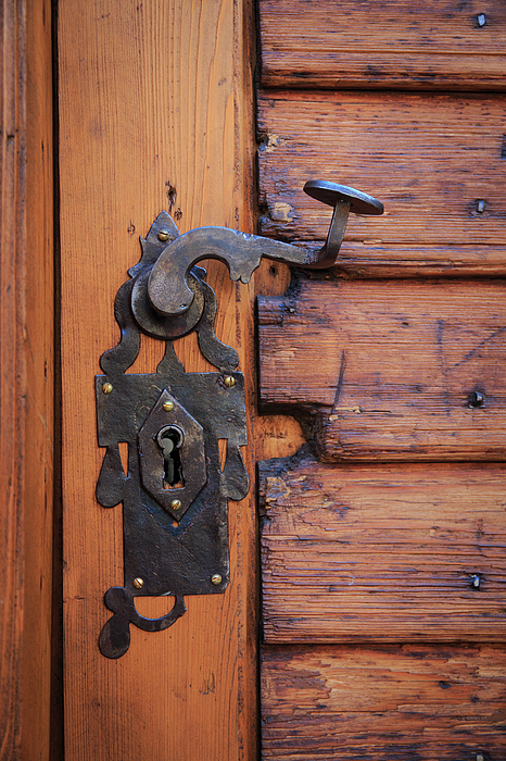 Architecture Photograph - Romania Brasov Door Handle Key Hole by Emily Wilson : keyhole door handles - pezcame.com