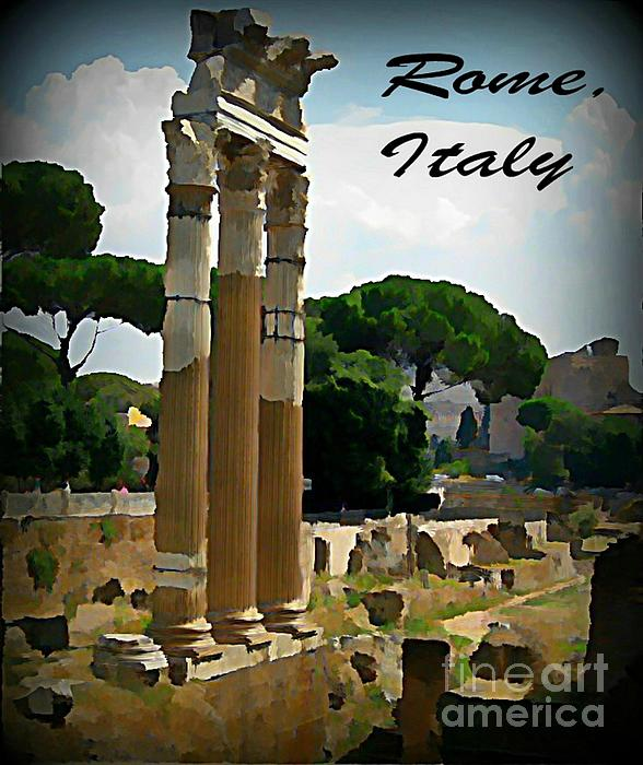 Rome Italy Poster Painting - Rome Italy Poster by John Malone