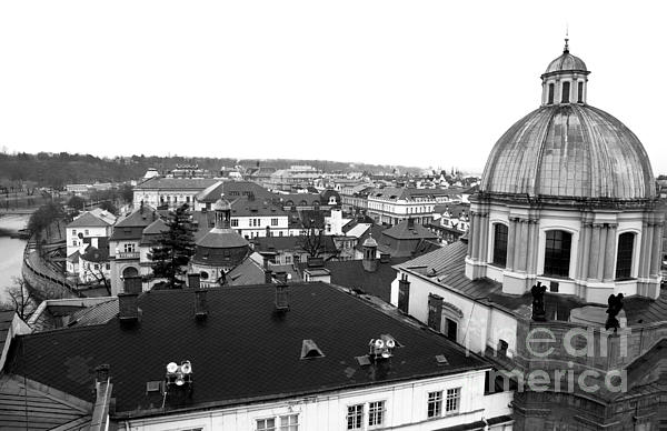 Rooftop View In Praha Photograph - Rooftop View In Praha by John Rizzuto