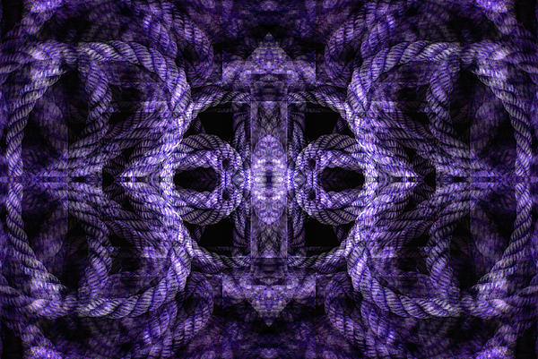 Illusion Digital Art - Rope Mantra 8 by Lynda Lehmann