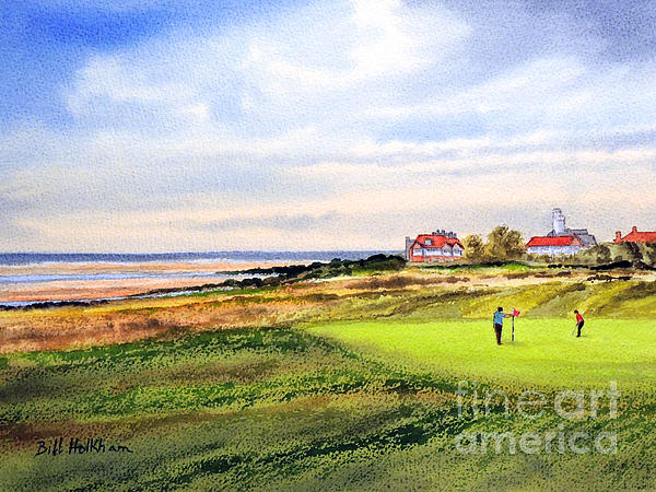 Golf Painting - Royal Liverpool Golf Course Hoylake by Bill Holkham