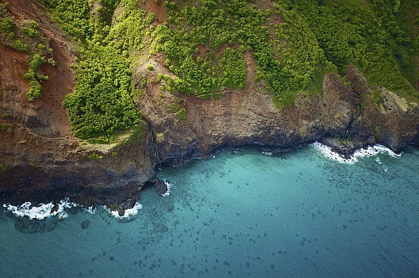 Beach Photograph - Rugged Kauai Coastline by Kicka Witte