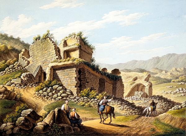 Ruin Drawing - Ruins Of The Stadium, 1790s by Gaetano Mercati