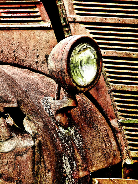 Old Truck Photograph - Rusted by Ron Roberts