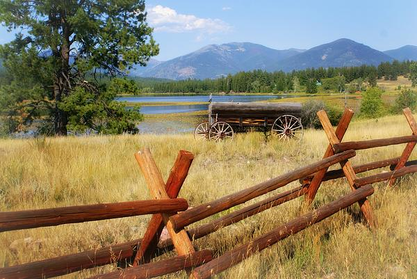 Landscape Photograph - Rustic Wagon by Marty Koch
