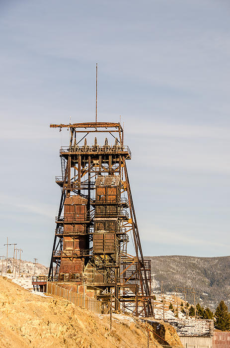 Butte Photograph - Rusty Mining Headframe by Sue Smith