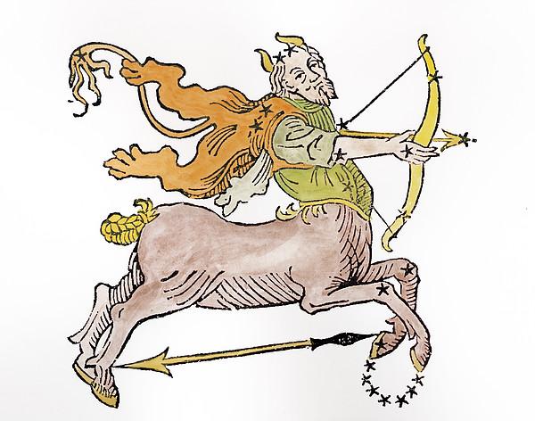 Bow Painting - Sagittarius An Illustration by Italian School