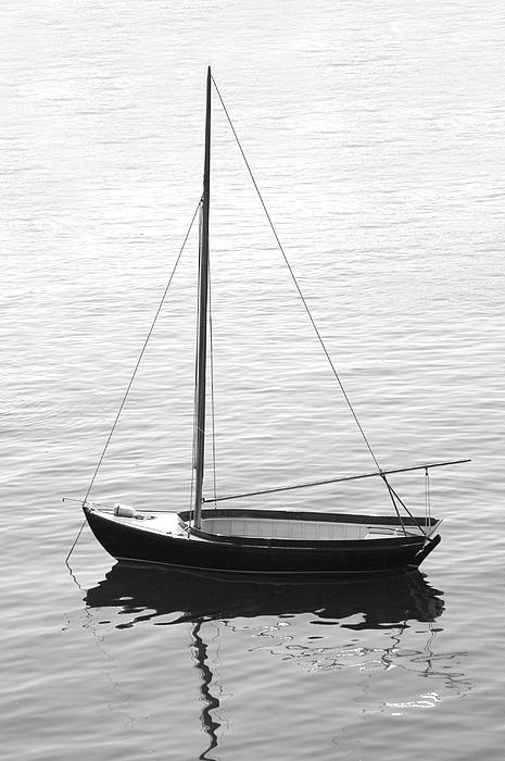 Sail Boat Photograph - Sail Boat In Maine by Mike McGlothlen