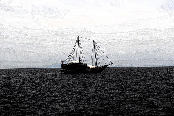 Boat Photograph - Sail In Black Sea- Viators Agonism by Vijinder Singh