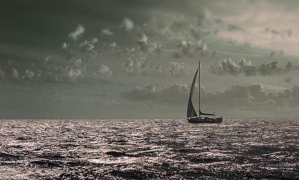 Boat Photograph - Sailing by Akos Kozari