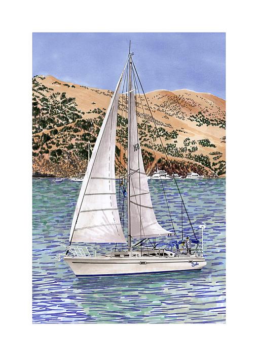 Catalina Island Painting - Sailing Catalina Island Sailing Sunday by Jack Pumphrey