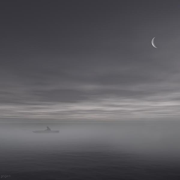 Gray Art Photograph - Sailing Solitude by Lourry Legarde