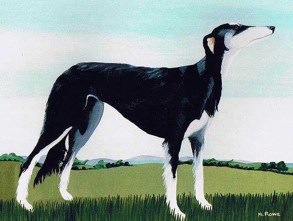 Dogs Painting - Saluki Cross by Maggie Rowe